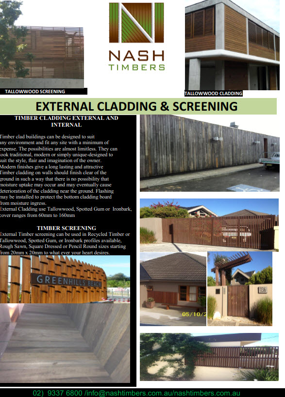 external cladding  screening tn